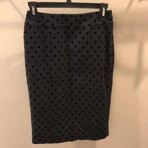 WHBM Charcoal Grey Pencil Skirt